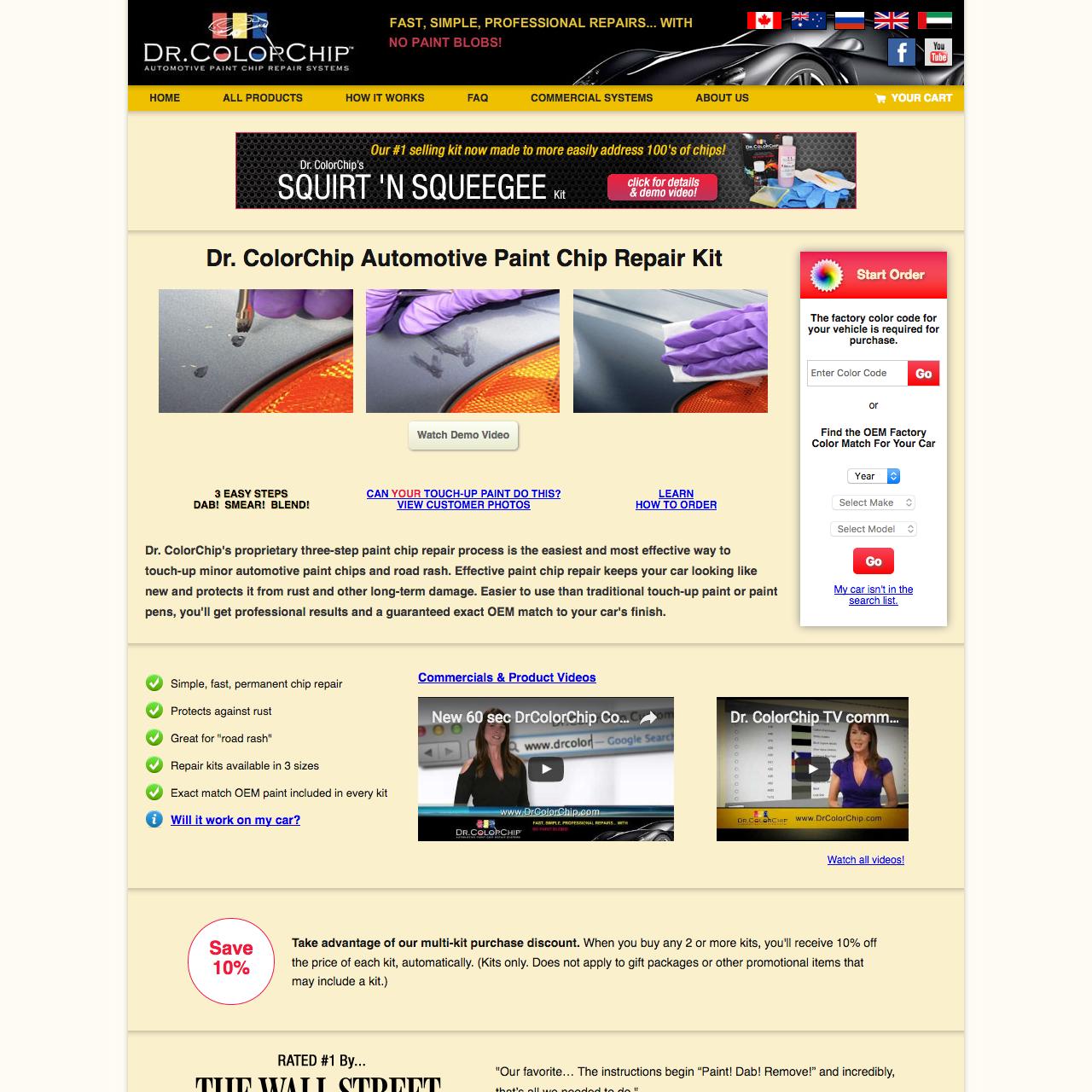 Dr ColorChip Automotive Paint Chip Repair System - Cranac